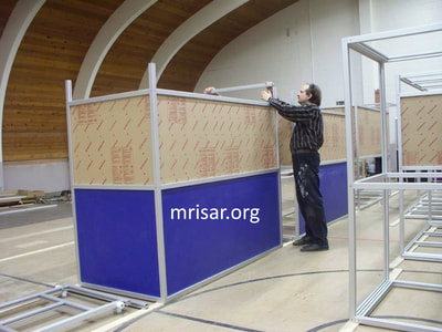 MRISAR's Team member John Siegel fabricating Robotic exhibits.