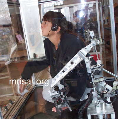 MRISAR Team member Victoria Croasdell Siegel during the fabrication of our base mounted 3 Finger Robotic Arm exhibit. We have been making exhibit robotics since 1991.