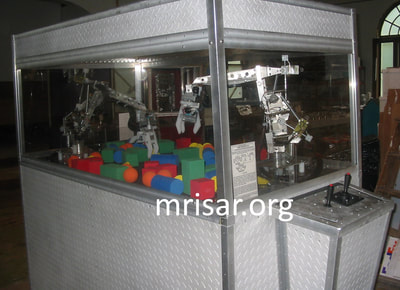 Robotic exhibits being fabricated by the MRISAR team. They have designed the earth's largest selection of world-class, public use, interactive robotic exhibits.