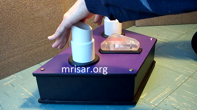 Interactive Science Exhibit; Mini Photonic Spectrum, designed and fabricated by MRISAR. We made our first version in 1985.