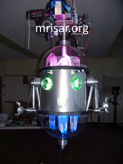 MRISAR's R&D Team Inventing and Testing Chibi-chan the Robot Host prototype in 2013.