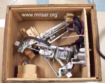 MRISAR's interactive regular or Telepresence exhibit grade 5 Finger Robot Arm kit, in its custom shipping crate! We sell them as kits, or as a complete exhibit, in our standard cases or in a custom case. We have been making exhibit robotics since 1991.