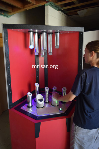 Science Exhibit; MRISAR's Interactive Photonic Spectrum Exhibit​ being fabricated by MRISAR's team who have been making them since 2001.