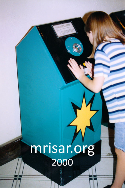 Interactive Science Exhibit; Kaleidoscopic Viewer exhibit, designed and fabricated by MRISAR. 2000.