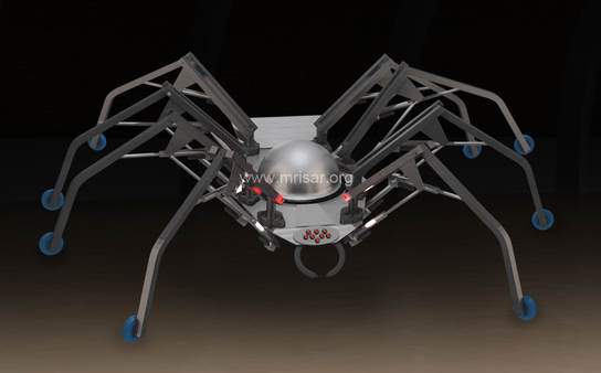 Robotic Exhibit; MRISAR's Interactive Robot Spider.