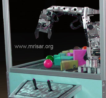 Robotic Exhibit; MRISAR's Dual 3 Finger Robotic Arm Exhibit