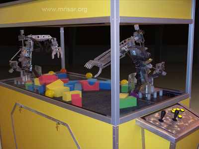 Robotic exhibits designed and fabricated by the MRISAR team. They have designed the earth's largest selection of world-class, public use, interactive robotic exhibits, since 1991.