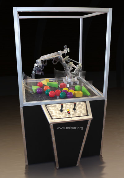 Robotic Exhibit; MRISAR's 3 Finger Robot Arm Base Mounted Exhibit