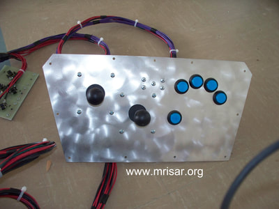 MRISAR's 5 Finger Robot Arm control panel