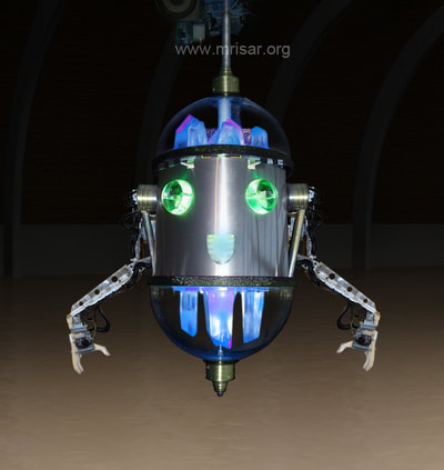 Robotic Exhibit; MRISAR's Chibi-sama; Rail Robot Assistant. A Talking Rail Robotic Guide or Host!