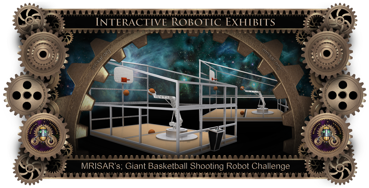 Giant Basketball Shooting Robot Arm Challenge or Human vs. robot!! by MRISAR