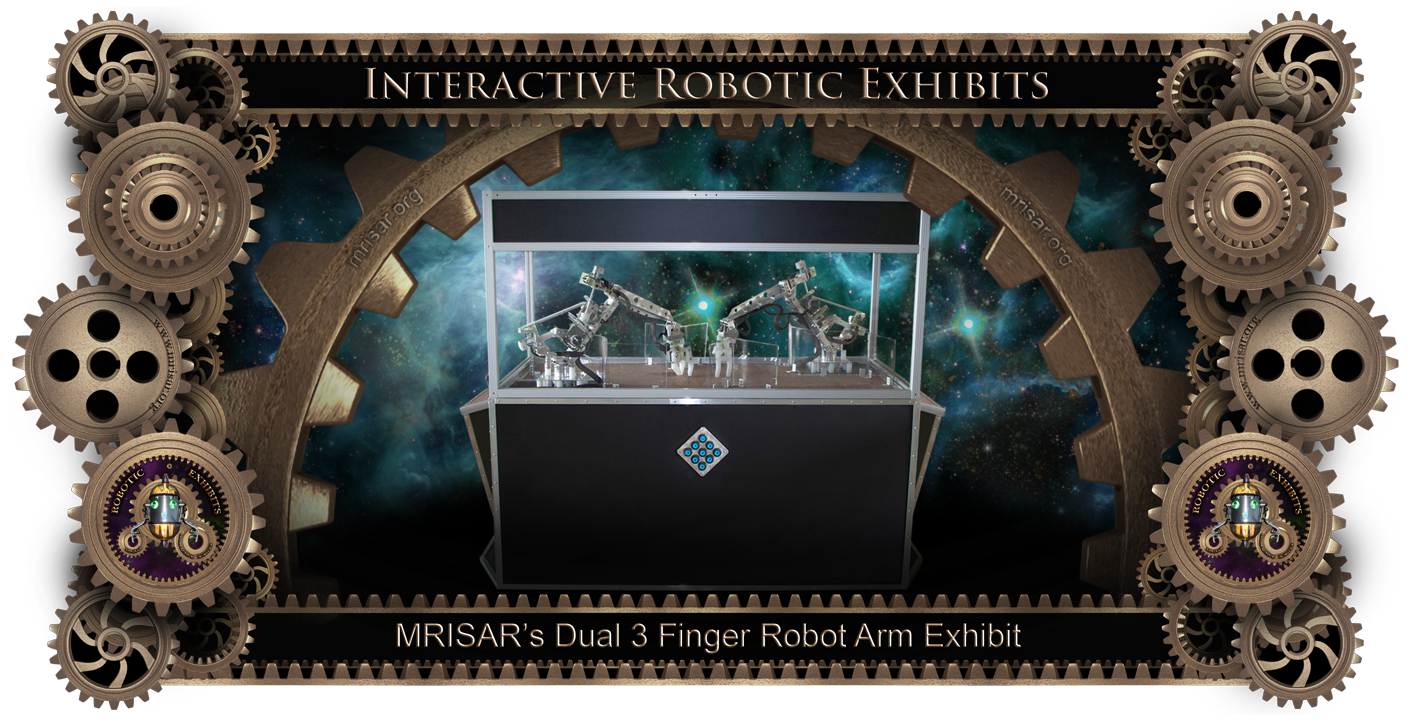 MRISAR's Dual 3 Finger Robotic Arm Exhibit