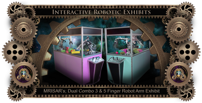 MRISAR's Exhibit Fabrication ​Images for the Dual Combo 3 & 5 Finger Robotic Arm Exhibits!