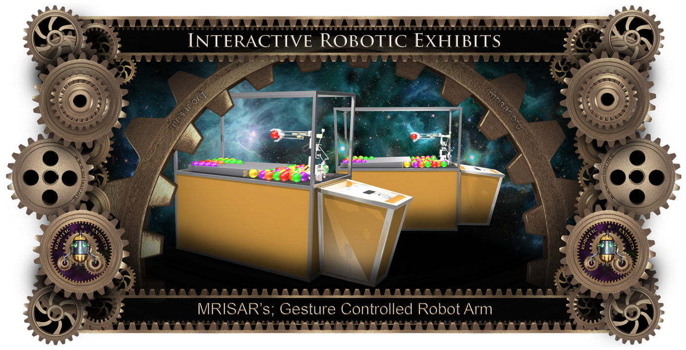 Gesture Controlled Robot Arm Exhibit by MRISAR.