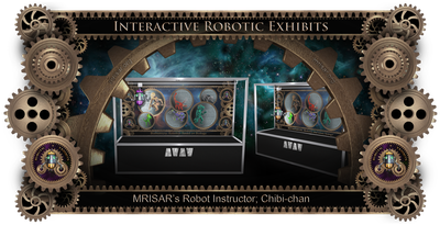 MRISAR's Robot Instructor Chibi-chan Exhibit; Subject is Biomimicry