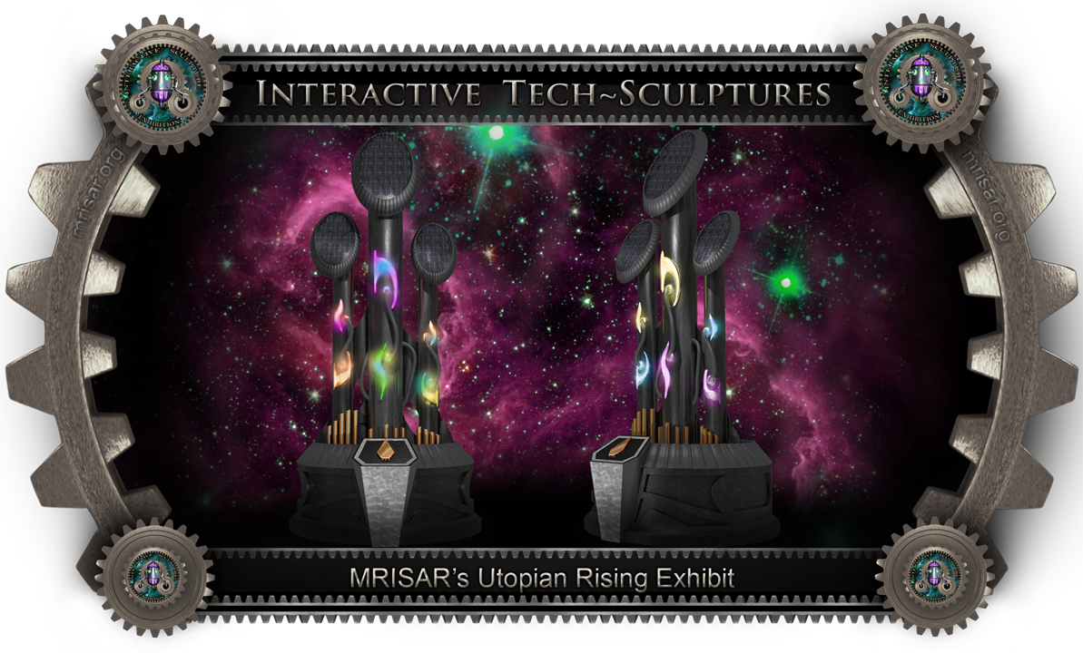 Interactive Outdoor Technology Sculpture​. MRISAR's Utopia Rising Grande: Interactive Outdoor Tech Sculpture​