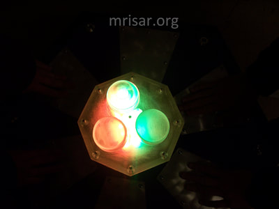 Interactive Science Exhibit; Mini Touch Spectrum, designed and fabricated by MRISAR. We made our first version in 1985.