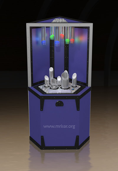 Science Exhibit; Interactive Photonic Spectrum Exhibit​ designed and fabricated by MRISAR since 2001.