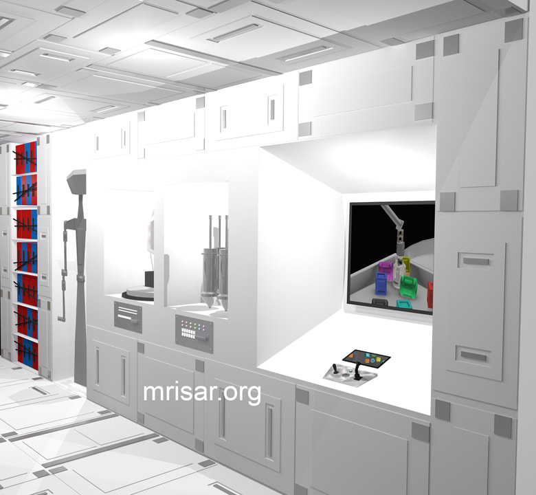 Space Exhibit; Space Station Module Simulator with Interactive, Interchangeable Elements by MRISAR