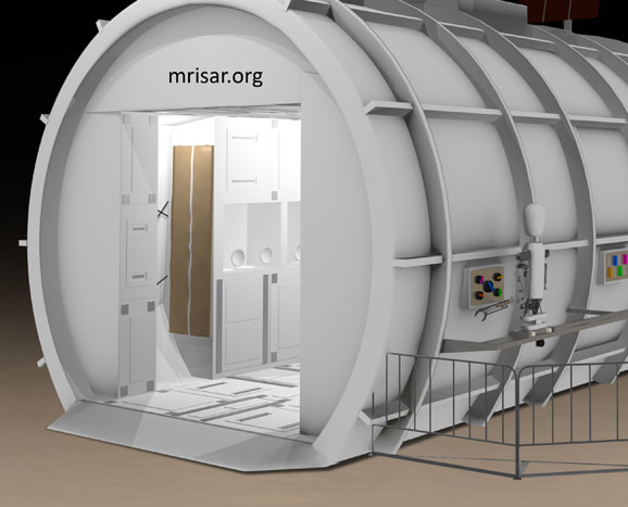 Space Exhibit; Space Station Titan Module Simulator with Interactive Robotics and Interchangeable Elements by MRISAR.