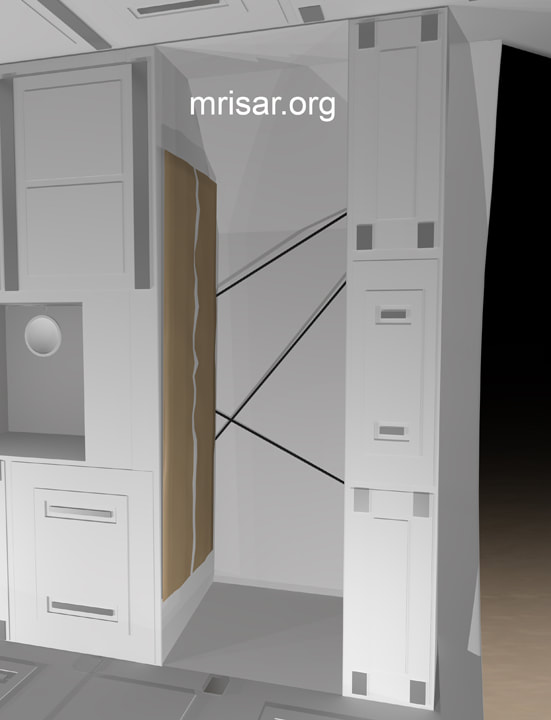 Space Exhibit; Space Station Module Simulator with Interactive, Interchangeable Elements by MRISAR. Space Station Sleeping Compartment Modular for the Space Exhibit; Space Station Module Simulator.