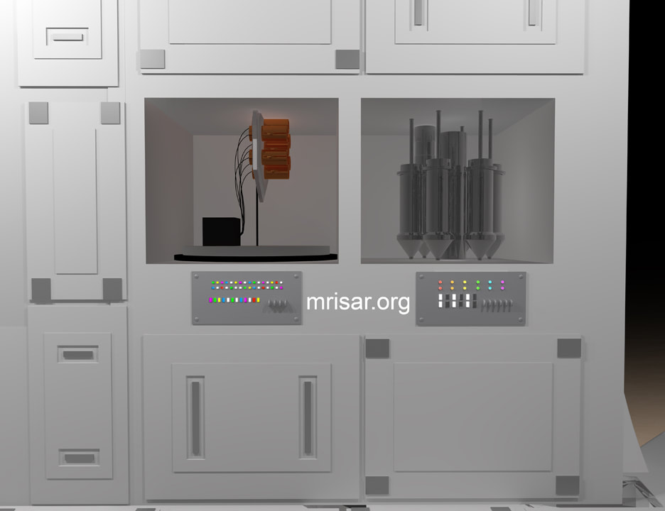 Space Exhibit; Space Station Module Simulator with Interactive, Interchangeable Elements by MRISAR. Working Ion Engine Modular and a Generator Modular for extended space missions for the Space Exhibit; Space Station Module Simulator.