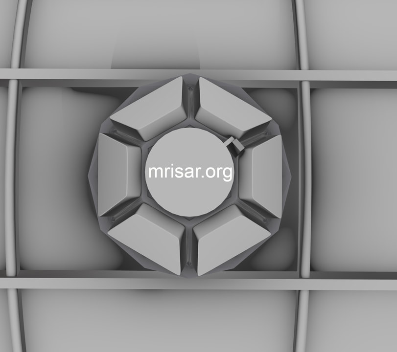 View of the cupola window modular with shutters closed for the Space Exhibit; Space Station Module Simulator with Interactive, Interchangeable Elements by MRISAR.
