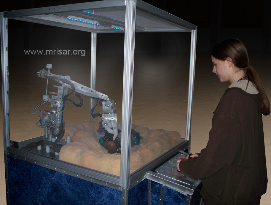 Robotic Underwater Exploration Simulator Exhibit by MRISAR
