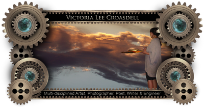 Victoria Lee Croasdell, an awarded, published and exhibited; Multi-disciplined Artist, Poet, Photographer, Writer and Engineer. Victoria joined in the creation of the MRISAR R&D Team in 1993.  She is one of four family members who have designed and created the prototypes of every robotic, science, tech art and regular art exhibit that MRISAR sells and rents.